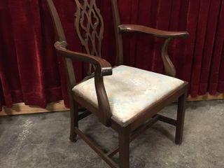 Antique Wood Frame Parlor Chair   27 5 w x 38 5 h