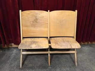 The Globe Furniture Co Folding 2 Seat Bench   Note