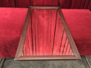 Vintage Wood Frame Wardrobe Mirror   21  x 43