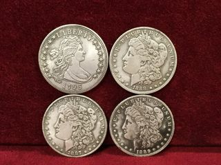 1795  1887  88   89 US Commemorative Morgan Dollar
