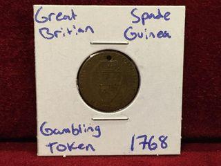 1768 Great Britain Gambling Token