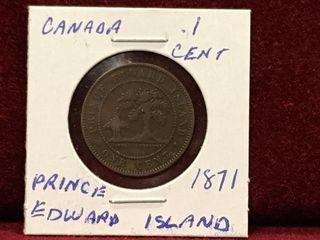 1871 Prince Edward Island 1 Coin