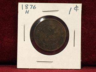 1876 H Canada 1 Coin