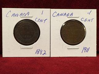 1882   1911 Canada 1 Coins