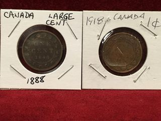 1888   1918 Canada large 1 Coin