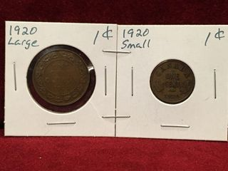 1920 Canada large   Small 1 Coins