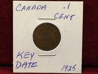 1925 Key Date Canada 1 Coin