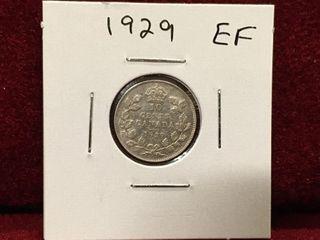 1929 Canada Extra Fine Silver 10 Coin