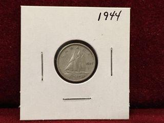 1944 Canada Silver 10 Coin