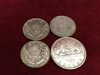 1943  44   52 50   1963  1 Canada Silver Coins
