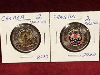 2 2020 Canada  2 Haida Grizzly Bear Coins