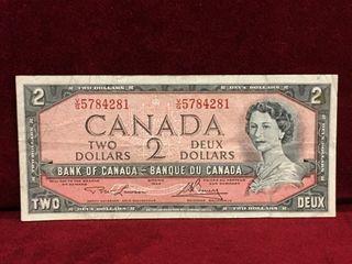 1954 Canada  2 Banknote