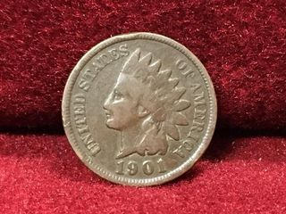 1901 US Indian Head Penny