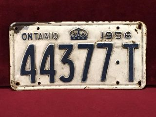 1956 Ontario license Plate