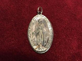 Antique Catholic Silver Pendant