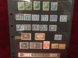 25 Canada Revenue Stamps