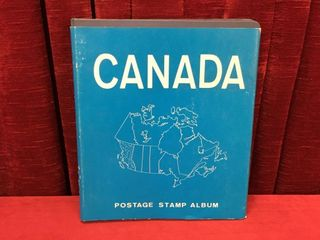 Canada Stamp Album w  Stamps   Not Complete