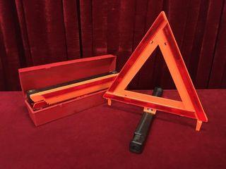 3pc Roadside 17  Warning Triangle Set