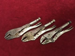 3 Vise Grip Brand locking Pliers