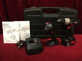 Craftsman 15 6V Drill   Flashlight Set   Tested