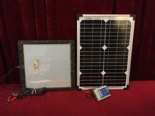 2 Solar Panels   13 5  x 14    14  x 19 5