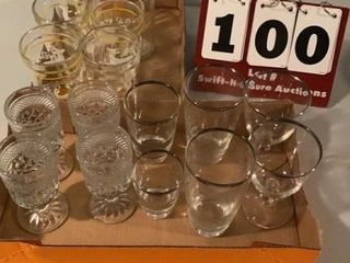 lot of Assorted Glassware