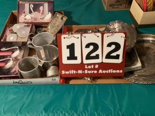 lot of Assorted Silver Plate Items