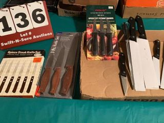 lot of Assorted Kitchen Knives