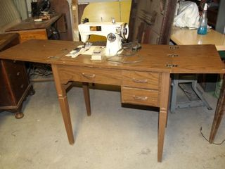 Thompson 102 A Sewing Machine and Table