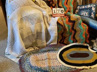 Crocheted Items   Throw Rugs
