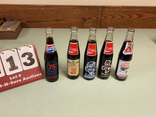 lot of Collectible Coca Cola   Pepsi Cola Bottles