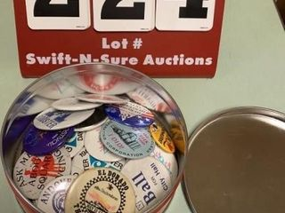 lot of Collectible Buttons  Campaign  Etc