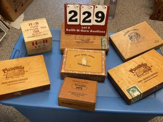 Assorted Wood Cigar Boxes