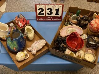 lot of Assorted Pottery   Decorating Items