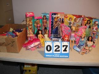lot of Assorted Barbie Dolls