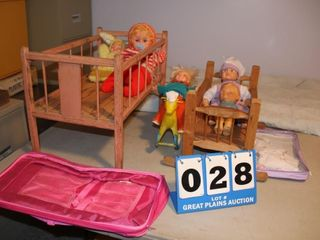 lot of Baby Dolls and Cradles