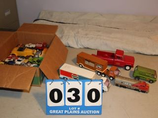lot of Vintage Toy Trucks