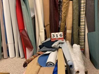 lot of Assorted Upholstery Materials