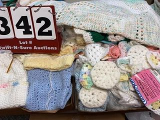 lot of Yarn   Crocheted Items