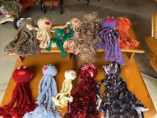 lot of Yarn Octopuses