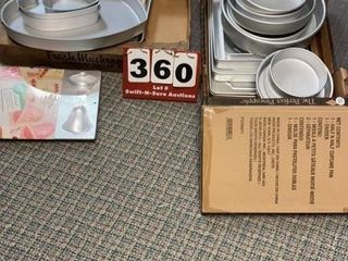 lot of Assorted Cake Baking Pans