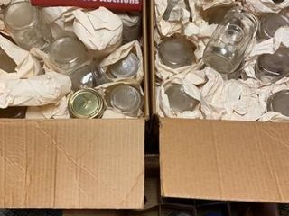 lot of Small Glass Jars