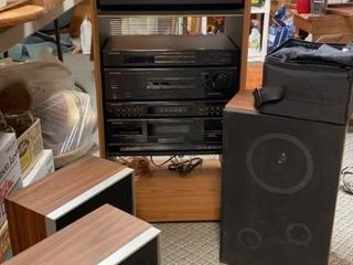 Pioneer Stereo System w Cabinet