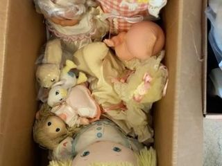 lot of Dolls and Stuffed Animals