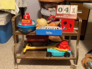 lot of Toys   Rolling Cart