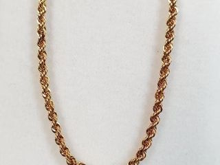 10K YEllOW GOlD CHAIN  lENGTH 18 WEIGHT 2 13G