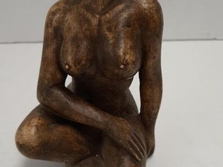 VINTAGE HAND CARVED ASIAN NUDE lADY SHOUSHAN STONE