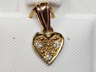 18K YEllOW GOlD DIAMOND 0 07CT