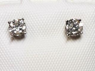 14K WHITE GOlD DIAMOND 0 4CT EARRINGS