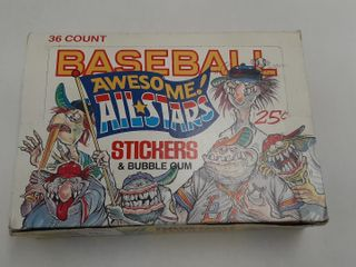 AWESOME AllSTARS BASEBAll SITCKERS AND BUBBlE